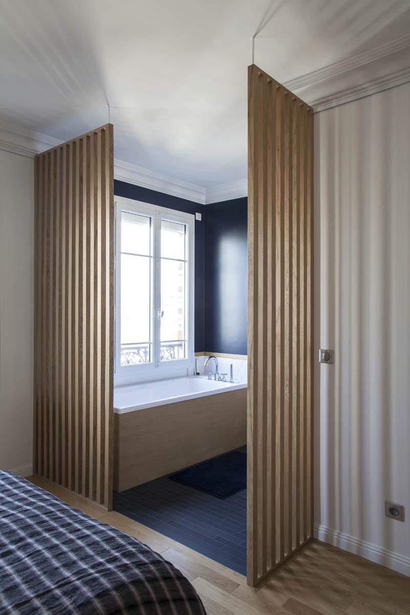 Rénovation d'un appartement Haussmannien par l'agence Boclaud Architecture.