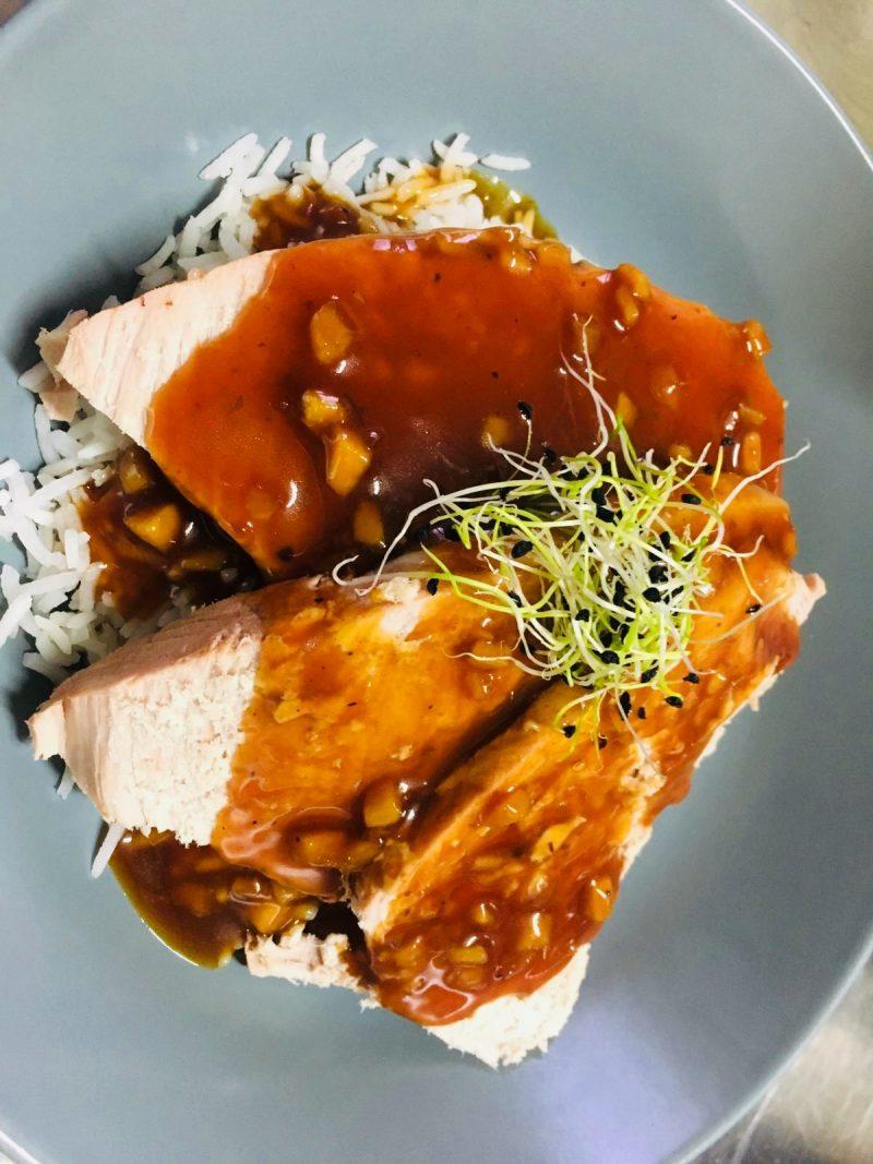 restaurant Bistrot La-Haut Montmartre Filet de porc Caramel de gingembre