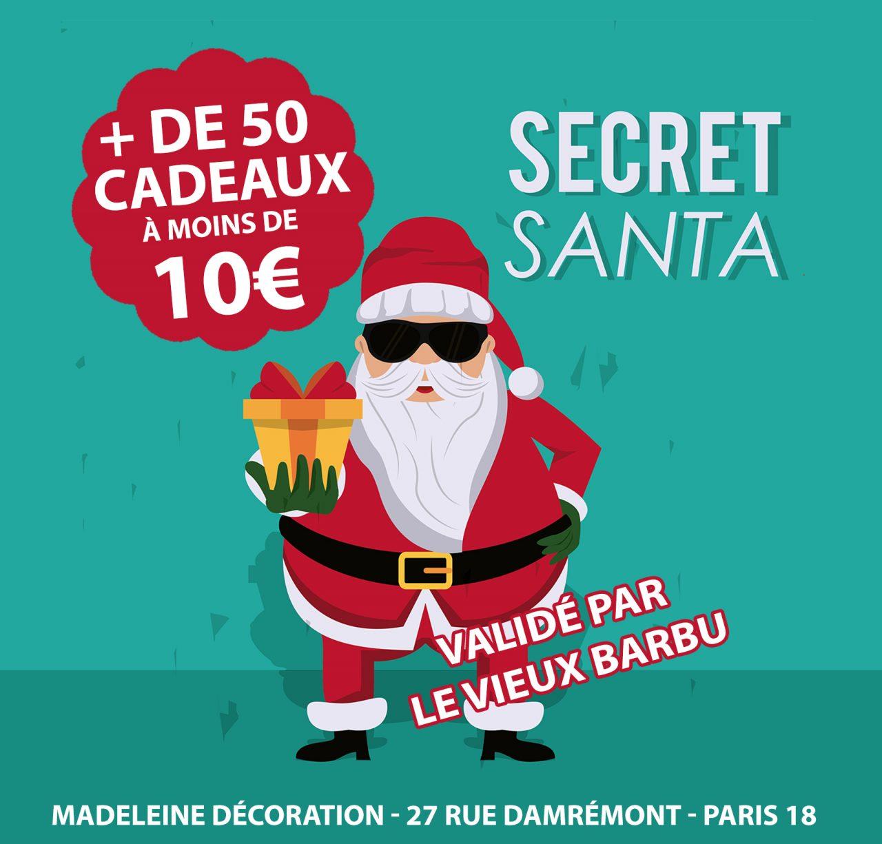 Sélection Secret Santa Madeleine Décoration : + de 50 cadeaux à moins de 10€