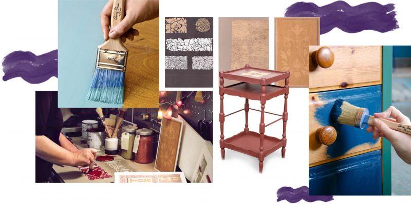 Atelier d'initiation à la peinture sur meuble La Fée Caséine