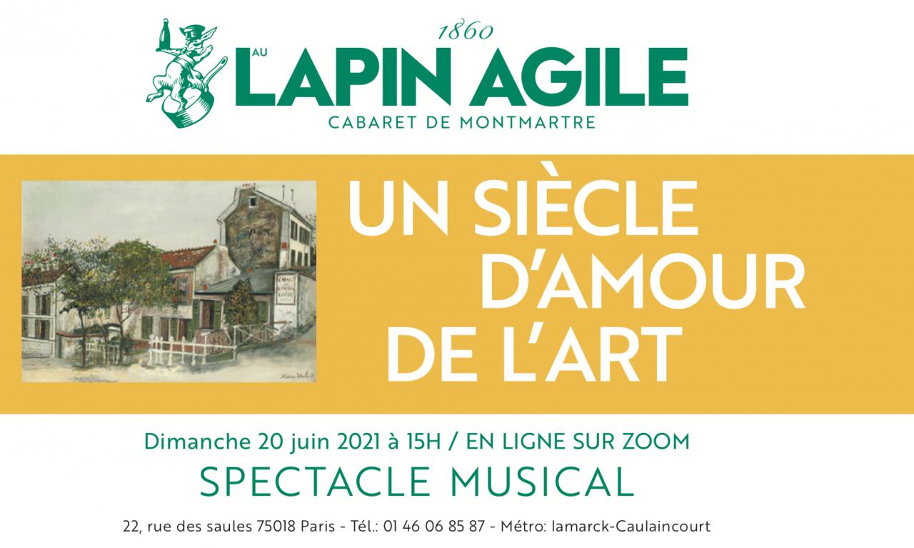 Spectacle musical Au Lapin Agile en Direct sur Zoom