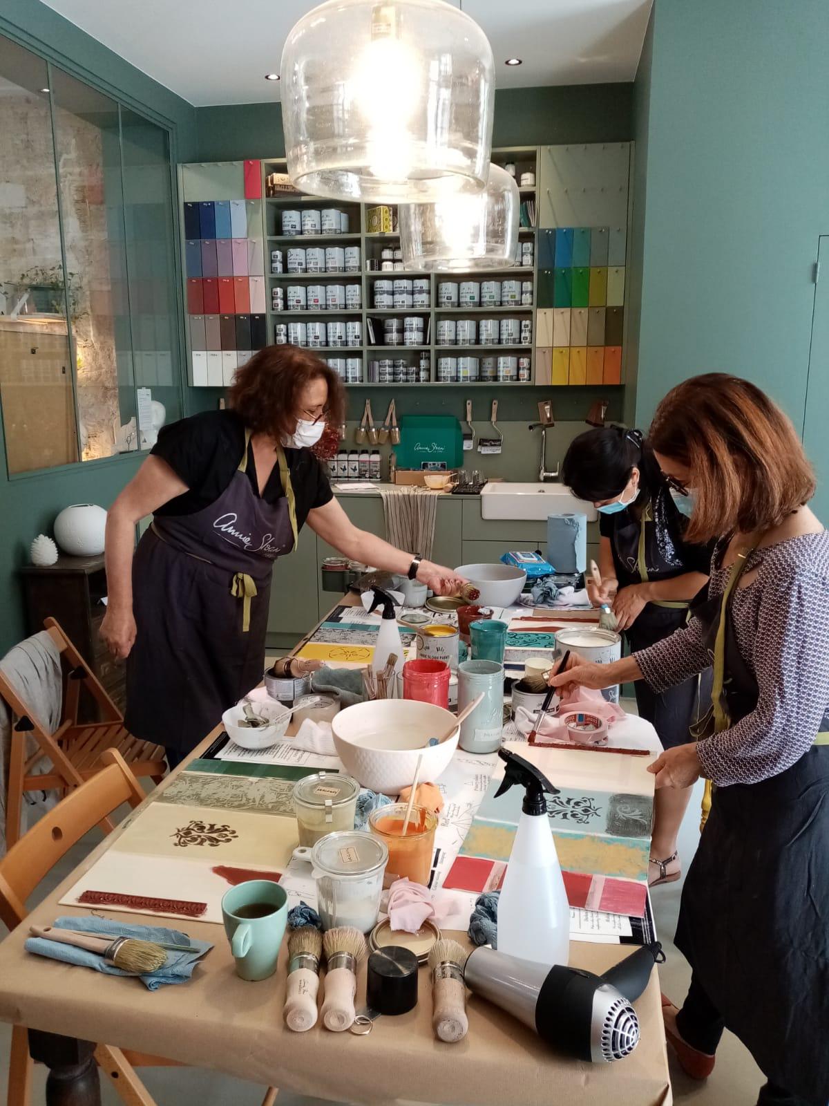 Atelier d'initiation à la patine sur mobilier et utilisation de la Chalk Paint Annie Sloan
